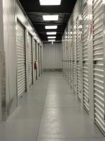 storage units photo of hallway lighting
